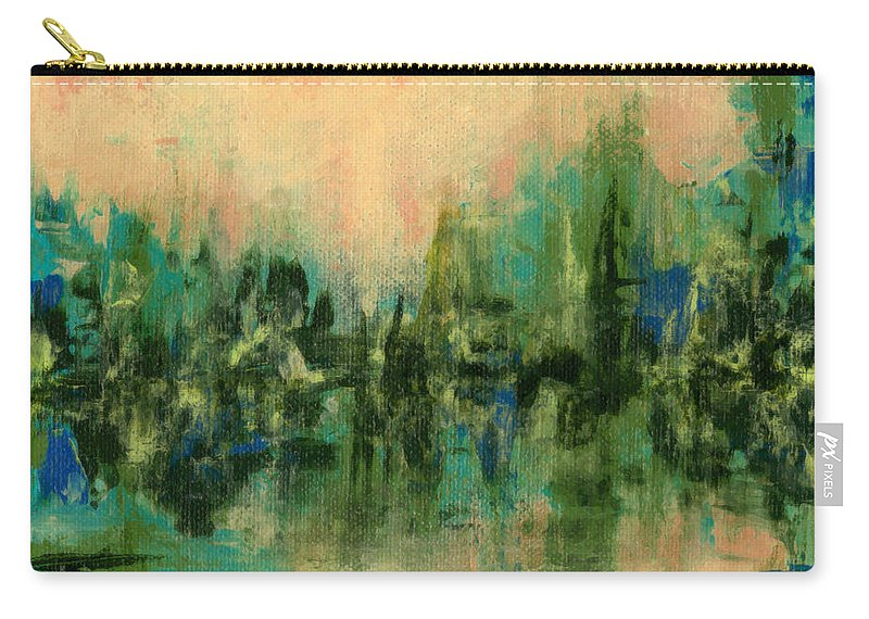 Abstract Painting Carry-all Pouch featuring the painting Reflections 2 by Debbie Smith