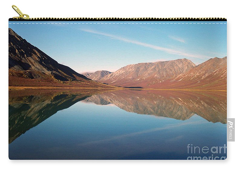 Lake Carry-all Pouch featuring the photograph Mountains Reflected on a Beautiful Lake by Denise McAllister