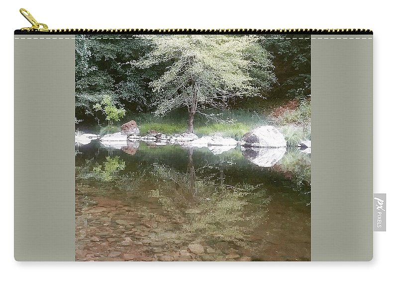 Trees Carry-all Pouch featuring the photograph Reflections by Emily King