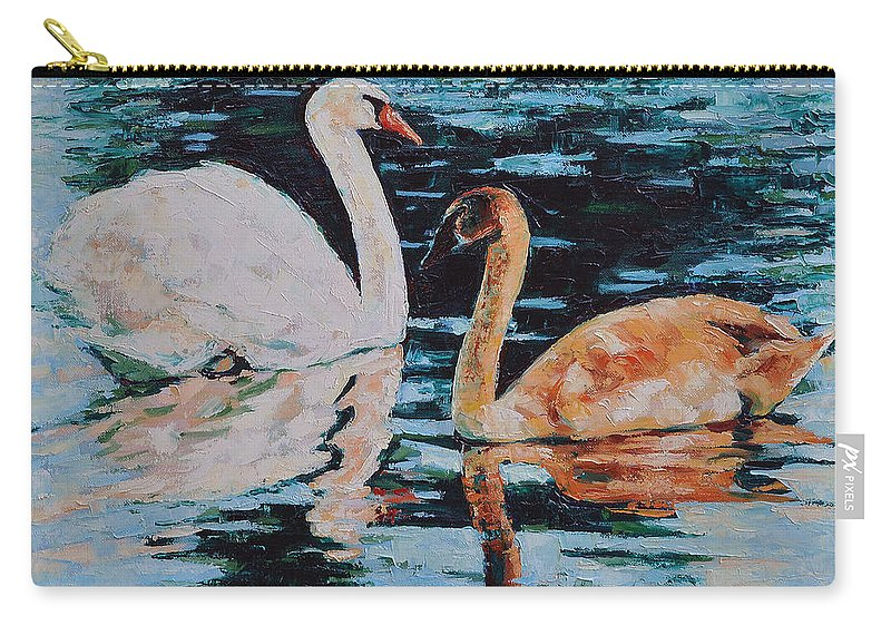 Blue Carry-all Pouch featuring the painting Reflections by Iliyan Bozhanov