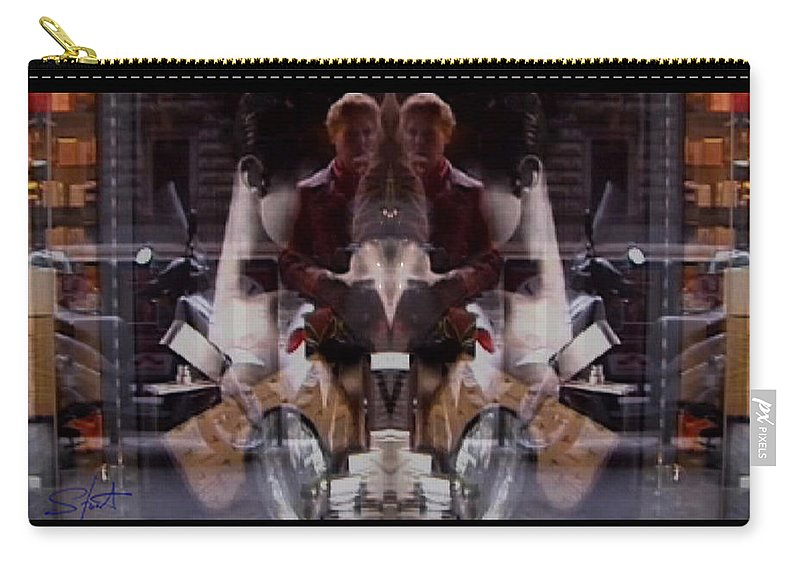 Dream Carry-all Pouch featuring the photograph Reflections In A Pharmacy Window by Charles Stuart