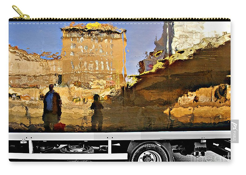 Reflection Carry-all Pouch featuring the photograph Reflections In Budapest by Madeline Ellis