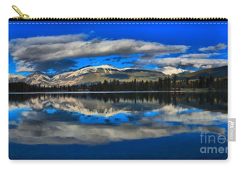 Lake Beauvert Carry-all Pouch featuring the photograph Reflections In Lac Beauvert by Adam Jewell