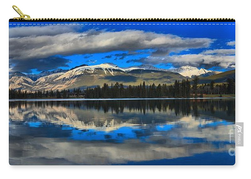 Lake Beauvert Carry-all Pouch featuring the photograph Reflections In Lake Beauvert by Adam Jewell