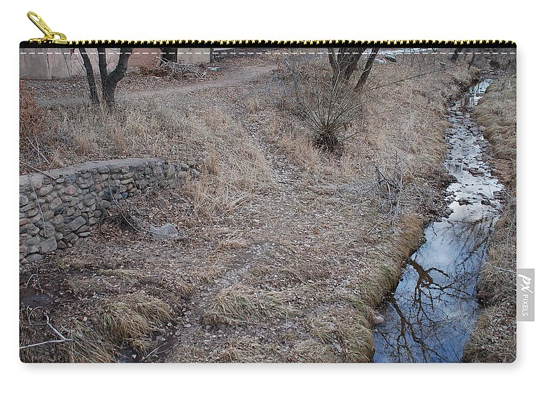 Water Carry-all Pouch featuring the photograph Reflections In The River by Rob Hans