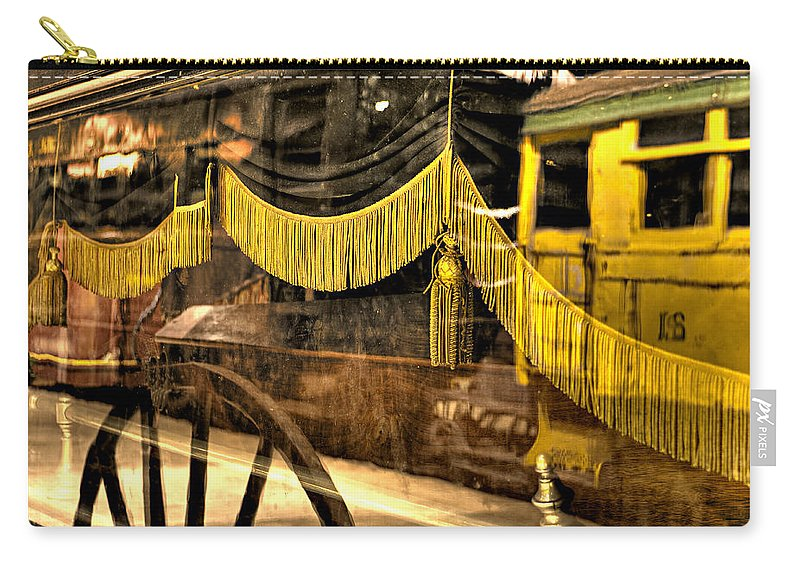 Train Carry-all Pouch featuring the photograph Reflections Of Death by Scott Wyatt