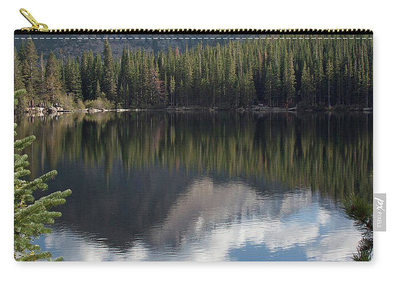 Scenery Carry-all Pouch featuring the photograph Reflections Of Majestic Mountains by Greg Plamp