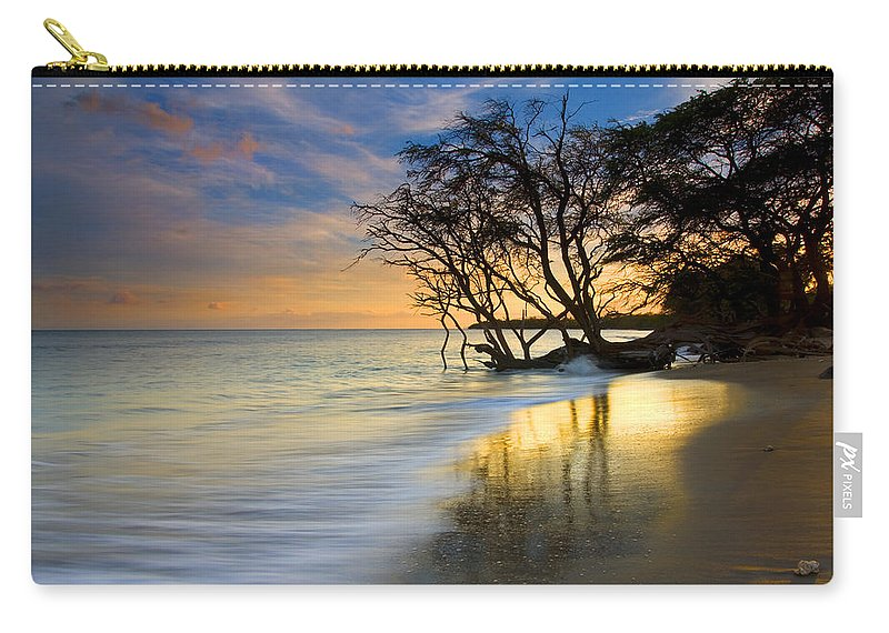 Waves Carry-all Pouch featuring the photograph Reflections Of Paradise by Mike Dawson