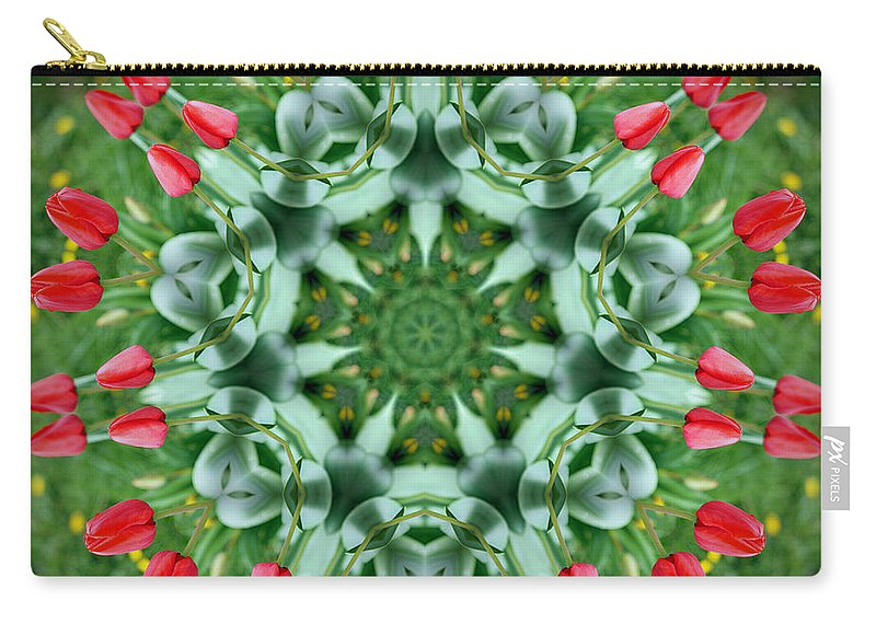 Tulips Carry-all Pouch featuring the photograph Reflections Of Spring by Cricket Hackmann