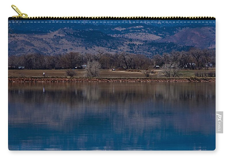 Twin Peaks Carry-all Pouch featuring the photograph Reflections Of The Twin Peaks by James BO Insogna