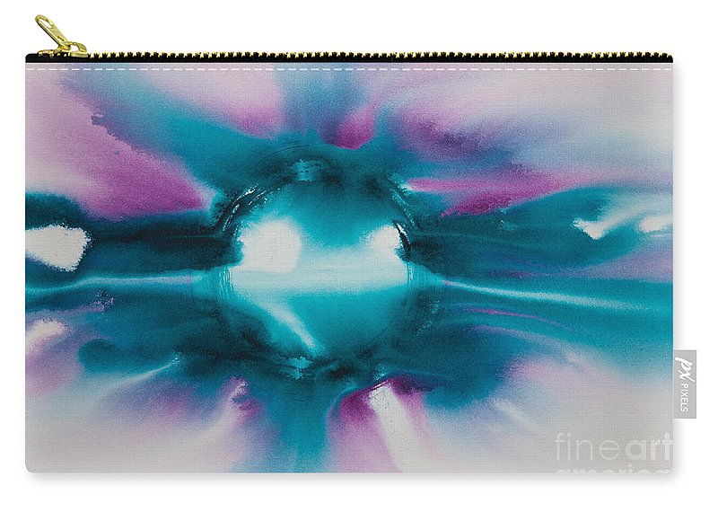 Ilisa Millermoon Carry-all Pouch featuring the painting Reflections Of The Universe No. 2307 by Ilisa Millermoon