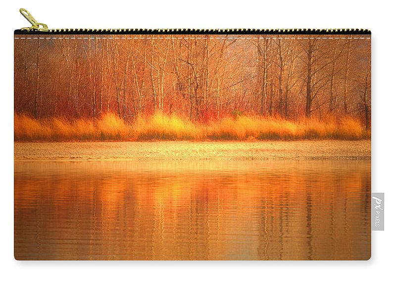 Okanagan Carry-all Pouch featuring the photograph Reflections On Fire by Tara Turner