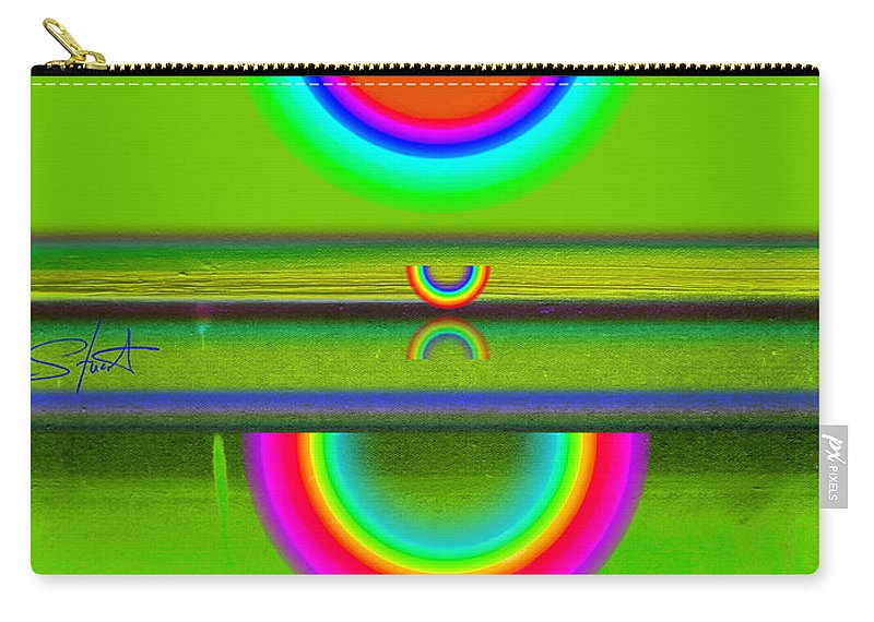 Reflections Carry-all Pouch featuring the painting Reflections On Green by Charles Stuart