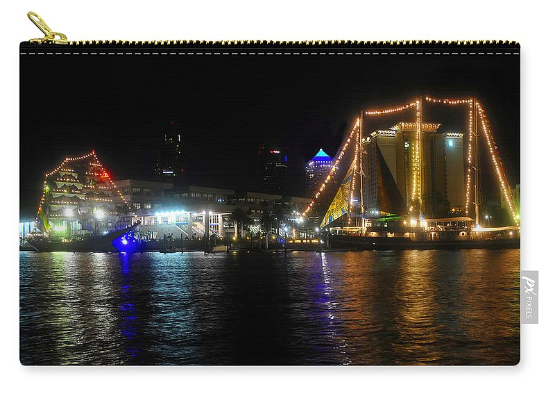 Tampa Bay Florida Carry-all Pouch featuring the photograph Reflections On Tampa Bay by David Lee Thompson
