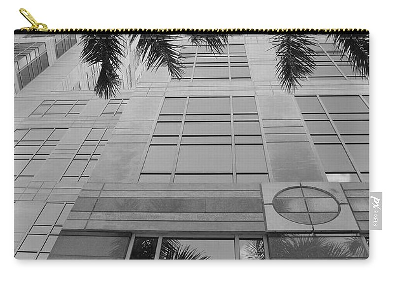 Architecture Carry-all Pouch featuring the photograph Reflections On The Building by Rob Hans