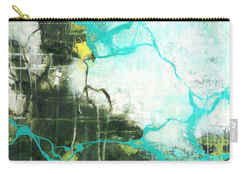 Square Carry-all Pouch featuring the painting Reflections by Romeo Zivoin