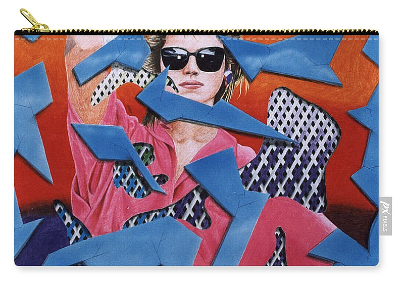 Woman Carry-all Pouch featuring the drawing Reflections by Shaun McNicholas