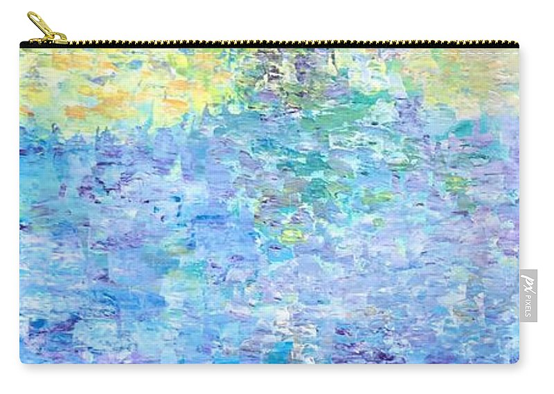 For Sofa Carry-all Pouch featuring the painting Reflections by Suniti Bhand