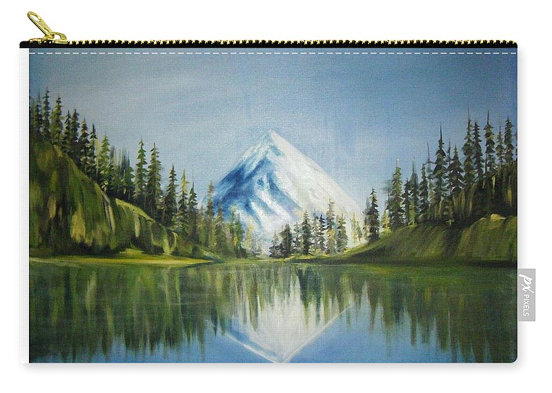 Oil Carry-all Pouch featuring the painting Reflexion 2 by Olaoluwa Smith