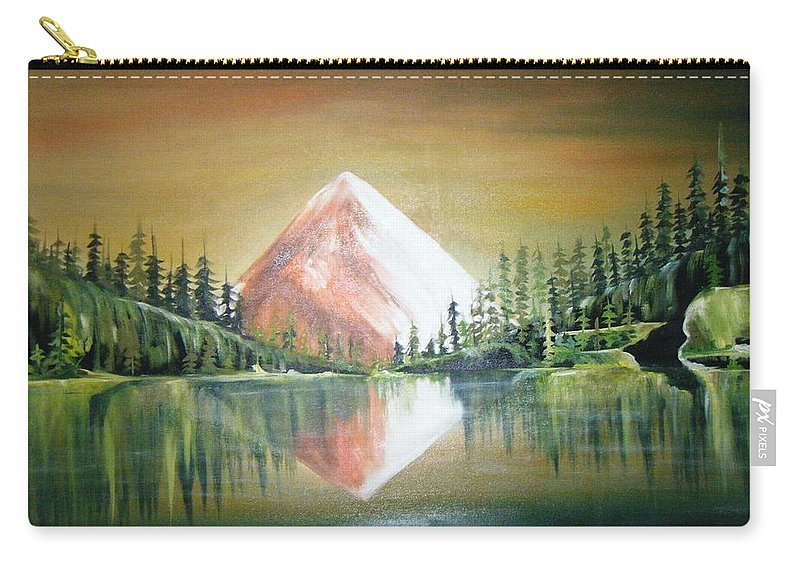 Oil Carry-all Pouch featuring the painting Reflexion by Olaoluwa Smith