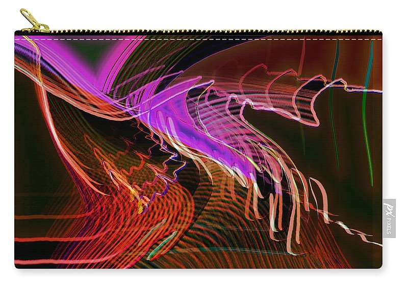 Drawing Carry-all Pouch featuring the digital art Reflexions Red by Helmut Rottler
