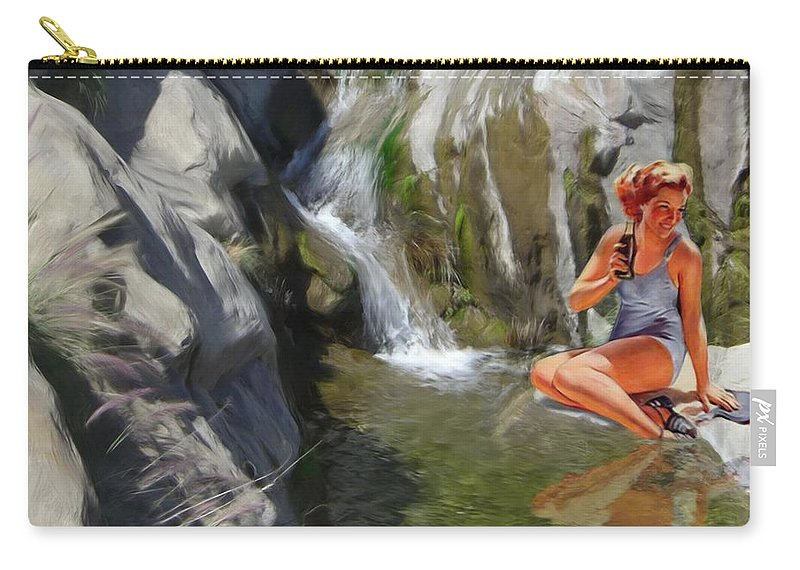 Deserts Carry-all Pouch featuring the digital art Refreshments by Snake Jagger