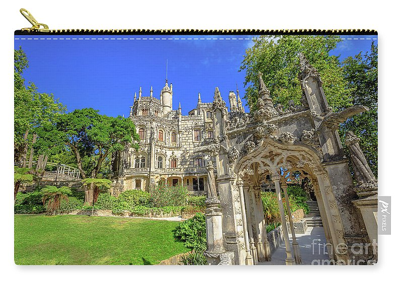 Sintra Carry-all Pouch featuring the photograph Regaleira Sintra Portugal by Benny Marty