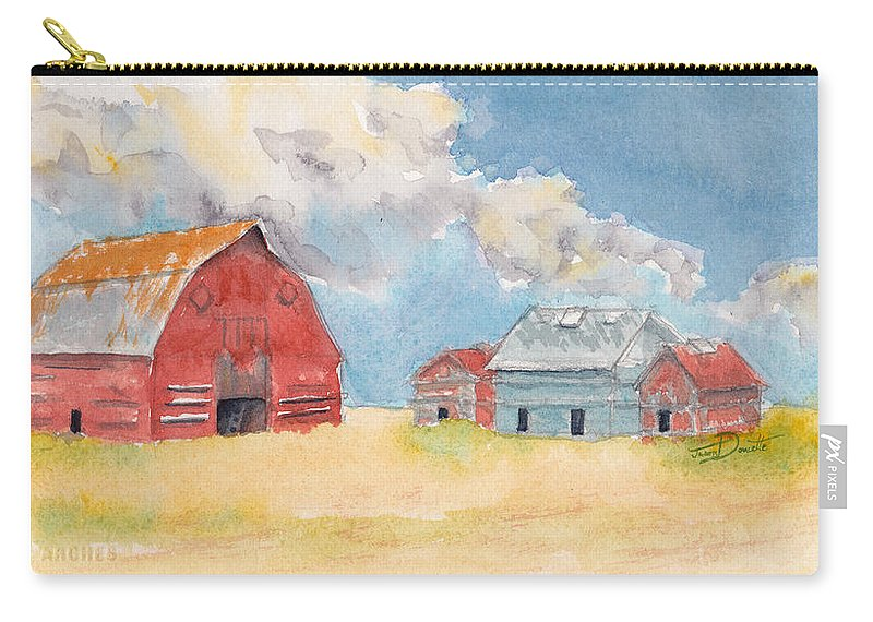 Regina Carry-all Pouch featuring the painting Regina Way by Jason Doucette