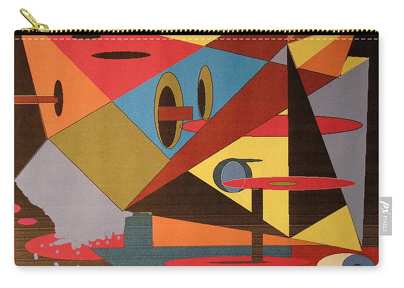 Abstract Carry-all Pouch featuring the digital art Regret by Ian MacDonald