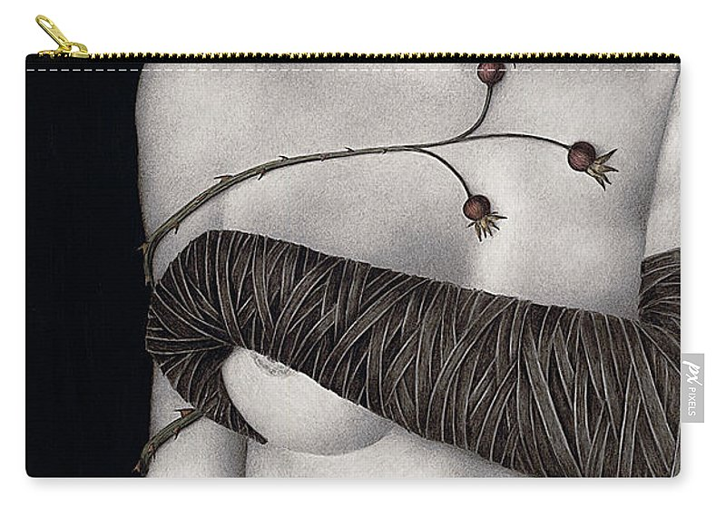 Woman Carry-all Pouch featuring the painting Regrets by Pat Erickson