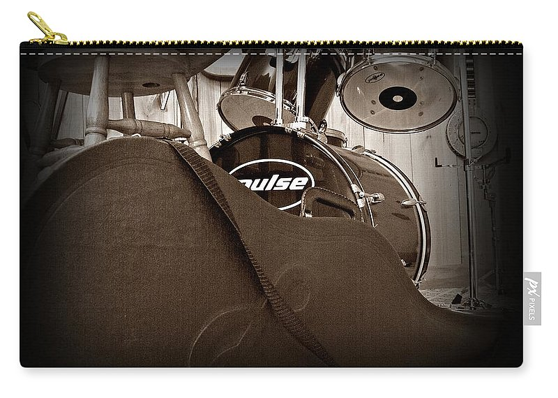 Guitar Carry-all Pouch featuring the photograph Rehearsal Time by Steve Cochran