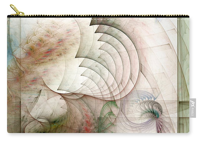 Fractal Carry-all Pouch featuring the digital art Rekindled by Casey Kotas
