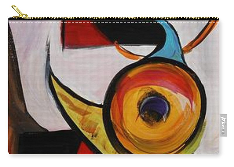 Shapes Carry-all Pouch featuring the painting Relationships by Nadine Rippelmeyer