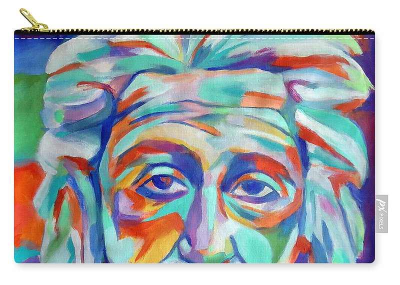 Abstract Portraiture Carry-all Pouch featuring the painting Relativity by Helena Wierzbicki
