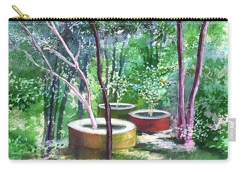 Opaque Landscape Carry-all Pouch featuring the painting Relax here by Anil Nene
