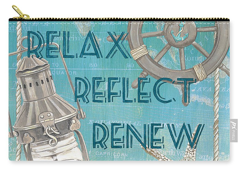 Sun Carry-all Pouch featuring the painting Relax Reflect Renew by Debbie DeWitt