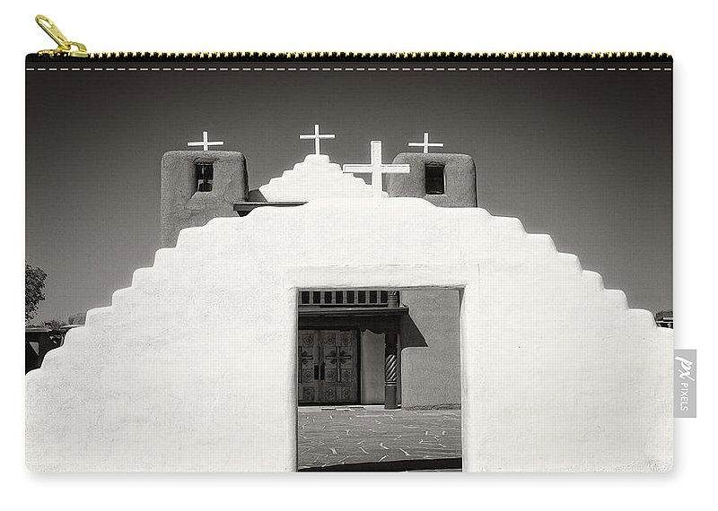 Carry-all Pouch featuring the photograph Religious Fronts by Timothy Princehorn