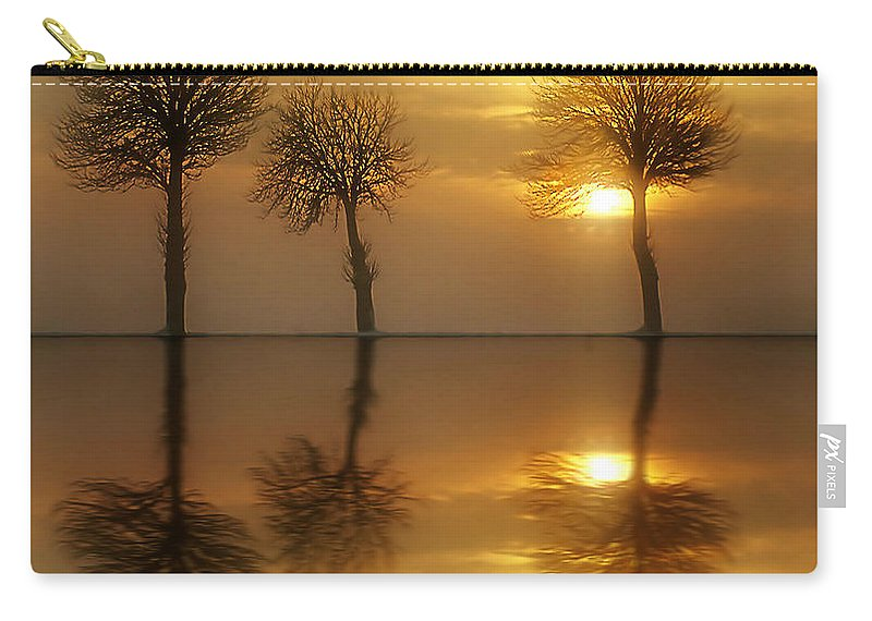 Sunset Carry-all Pouch featuring the photograph Remains Of The Day by Jacky Gerritsen