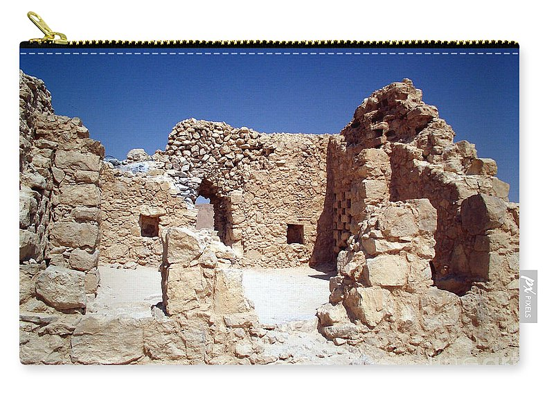 Massada Carry-all Pouch featuring the photograph Remains Of The Massada Synagogue by Avi Horovitz