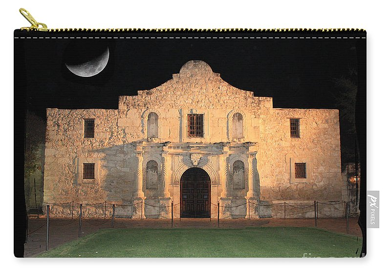 Remember The Alamo Carry-all Pouch featuring the photograph Remember The Alamo by Carol Groenen