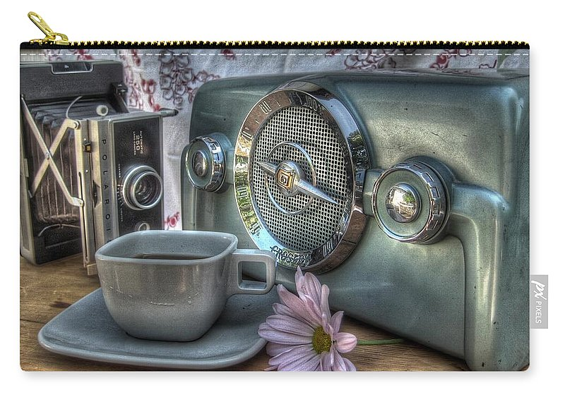 Coffee Carry-all Pouch featuring the photograph Remember The Past by Jane Linders