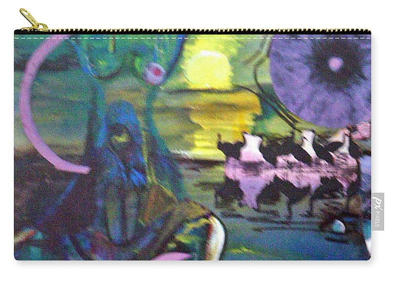 Water Carry-all Pouch featuring the painting Remembering 9-11 by Peggy Blood