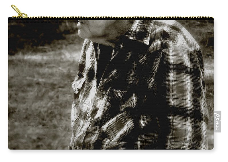Farmer Carry-all Pouch featuring the photograph Remembering Hard Times by RC DeWinter