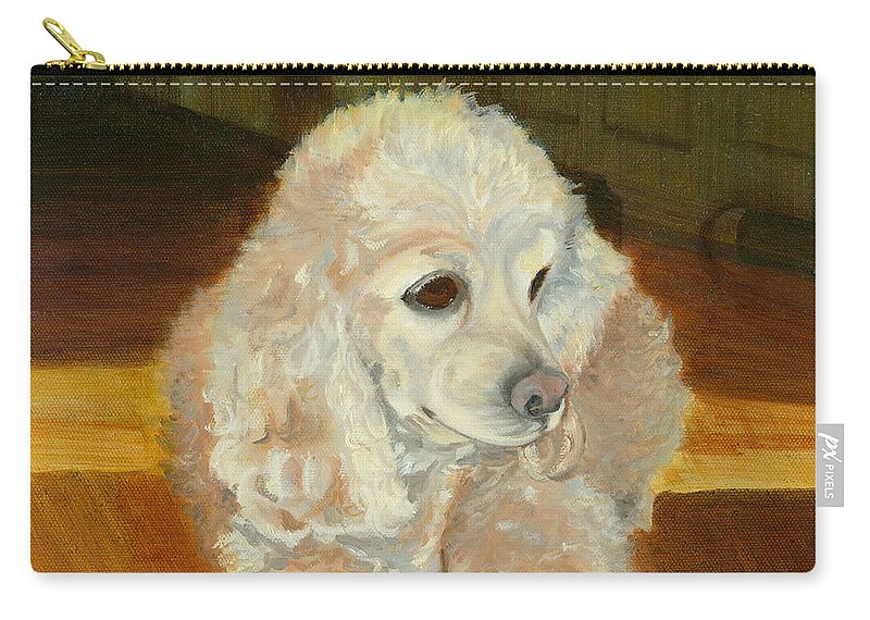 Animal Carry-all Pouch featuring the painting Remembering Morgan by Paula Emery