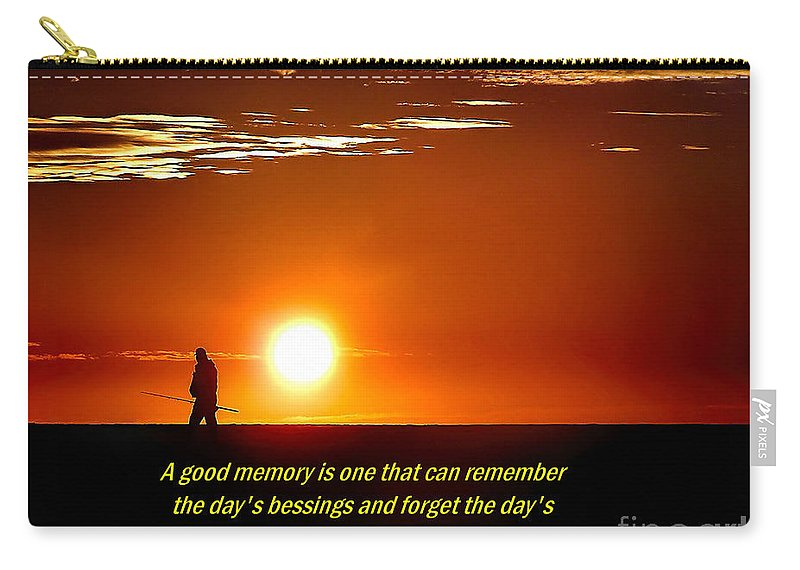 Dawn Carry-all Pouch featuring the photograph Remembering by Nick Zelinsky