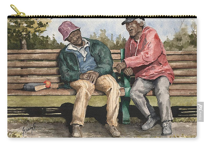 Park Carry-all Pouch featuring the painting Remembering The Good Times by Sam Sidders