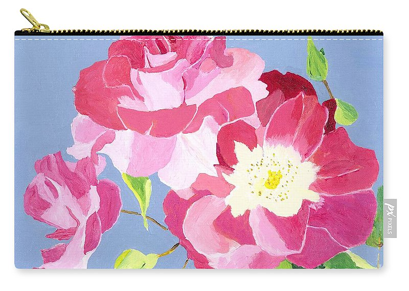 Roses Carry-all Pouch featuring the painting Remembrance by Rodney Campbell