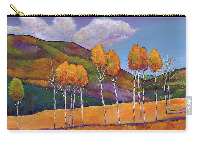 Autumn Aspen Carry-all Pouch featuring the painting Reminiscing by Johnathan Harris