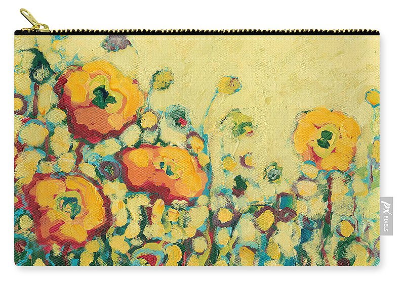 Floral Carry-all Pouch featuring the painting Reminiscing on a Summer Day by Jennifer Lommers
