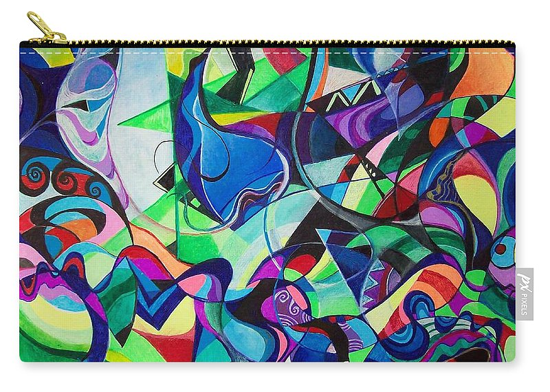 Renaissance Claudio Monteverdi Carry-all Pouch featuring the painting Renaissance by Wolfgang Schweizer